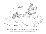 """Mrs. Marsha Mullhouse, of Kenosha, Wisconsin, asks, ""Are You subject to t…"" - New Yorker Cartoon Premium Giclee Print by David Sipress"