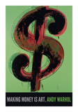 Andy Warhol - Dollar Sign, 1981 Digitálně vytištěná reprodukce
