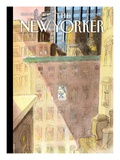 On His Way - The New Yorker Cover, March 21, 2011 Regular Giclee Print by Jean-Jacques Sempé