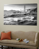 California, San Francisco, Golden Gate Bridge from Marshall Beach, USA Plakat av Alan Copson