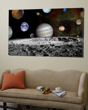Montage of Images Taken by the Voyager Spacecraft Posters