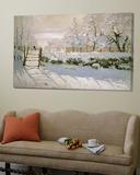 Harakka, 1869 Juliste tekijänä Claude Monet