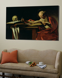 St. Jerome Writing, circa 1604 Posters by  Caravaggio