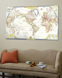 World Map 1951 Poster