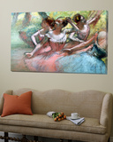 Four Ballerinas on the Stage Plakat av Edgar Degas