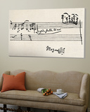 Cadenza, med Mozarts signatur Poster