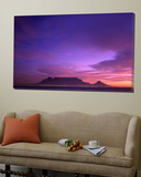 Table Mountain, Sunset, Cape Town, South Africa Poster von Steve Vidler