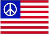 USA Peace Flag Poster