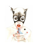 Cat Collectable Print by Lora Zombie