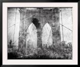 Brooklyn Bridge in Verichrome Framed Photographic Print by Evan Morris Cohen