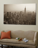 Manhattan Skyline Including Empire State Building, New York City, USA Print by Alan Copson