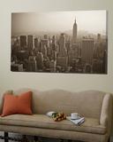 Manhattan Skyline Including Empire State Building, New York City, USA Print by Alan Copson