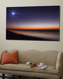 The Moon and Venus at Twilight from the Beach of Pinamar, Argentina Posters by  Stocktrek Images