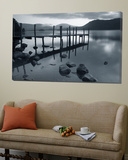 Tranquil Landscape and Pier, Derwent Water, Lake District, Cumbria, England Prints by Peter Adams