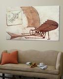 Vliegmachine Poster van  Leonardo da Vinci