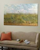 Champ de blé avec une alouette Affiches par Vincent van Gogh