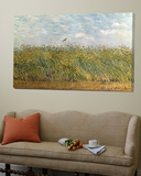Weizenfeld mit Lerche Kunstdrucke von Vincent van Gogh