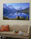 Mountains Reflected in Lake, Glacier National Park, Montana, USA Posters
