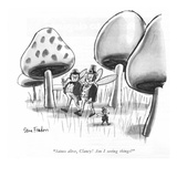 """Saints alive, Clancy! Am I seeing things?"" - New Yorker Cartoon Premium Giclee Print by Dana Fradon"