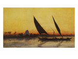 Voyage on the Nile in a Felucca, Her Majesty Empress Eugenie, 1826-1920 Giclee Print by Charles Theodore Frere
