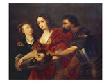 Salomé Receives the Head of John the Baptist, 17th Century Premium Giclee Print by Peter Paul Rubens (Workshop of)