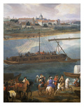 Left Bank with Hospital of the Salpetrière, Paris from the Quai De La Rapée Giclee Print by Pierre-Denis Martin