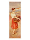 Girl with Basket of Fish, C. 1889 Giclee Print by Pierre-Auguste Renoir