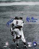 Yogi Berra / Don Larsen Hug Dual Signed w/ PG 10-8-56 Insc Photo