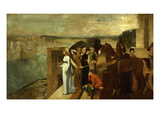 Semiramis Construisant Babylone, Semiramis Building Babylon (Assyrian Queen Sammu-Ramat) Giclee Print by Edgar Degas