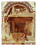 Armourer and Swordmaker, Ceiling Fresco Giclee Print by Bernardino Barbatelli Poccetti