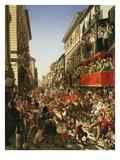 Carnival in Rome, Italy Giclee Print by Aleksander Petrovic Mjasoldov