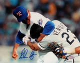 Nolan Ryan Ventura Fight Horizontal Signed Photo Photo