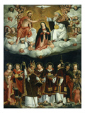 Coronation of Virgin and Saints Giclee Print by Paulo Naurizio