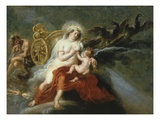 The Birth of the Milky Way with Juno Breastfeeding Baby Hercules, 1636-37 Gicl&#233;e-Druck von Sir Peter Paul Rubens