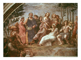 Parnassus (Homer, Dante and Virgil) Impression giclée par  Raphael