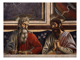 Last Supper Fresco C1444-50, Detail of Apostles Andrew and Bartholomew Giclee Print by Andrea Del Castagno