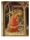 Angel Gabriel, from the Annunciation, C. 1440, Altarpiece from Convent of Montecarlo (Detail) Giclee Print by Fra Angelico