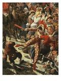 Carnival in Rome, Italy (Detail) Giclee Print by Aleksander Petrovic Mjasoldov