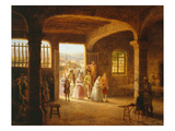 Village Wedding in Central France, Restoration Period, C.1825 Giclee Print by Michel-Gabriel-Grégoire Gourdet