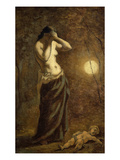 Allegory of Sorrow Oil Sketch Giclee Print by Pierre Puvis de Chavannes