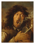 The Smoker, Undated Premium Giclee Print by Joos Van Craesbeeck