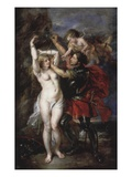Liberation of Andromeda by Perseus, Greek Hero Who Has Just Saved the Princess Giclee Print by Sir Peter Paul Rubens