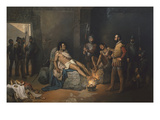 The Torture of Cuauhtemoc,1495 - 1522, Successor to Montezuma, 1466-1520 Giclee Print by Leandro Izaquirre