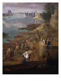 Bottom Tip of the Ile St Louis, Paris from the Quai De La Rapée, also Called the Quai De Bercy Giclee Print by Pierre-Denis Martin