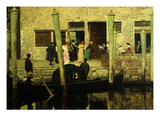 Waiting for the Bride and Groom, Venice, Italy, 1879 Giclee Print by Giacomo Favretto