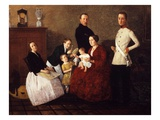 Austrian Bourgeois Family, 1854 Giclee Print by Michael Neder