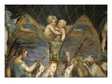 Death of Actaeon, Fresco, Diana and Actaeon Room (Inspired by Ovid's Metamorphoses) Giclee Print by Francesco Parmigianino
