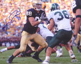 Anthony Fasano Notre Dame Blocking vs. Michigan State Horizontal Photo
