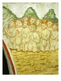 "The Last Judgement, Children in Limbo, 15th Century Fresco, ""The Poor Man's Bible"" Giclee Print by Francesco & Sperindio Cagnola"