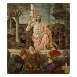 The Resurrection of Christ, 1463-65, Fresco Giclee Print by  Piero della Francesca